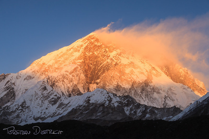 Sunset at Nuptse